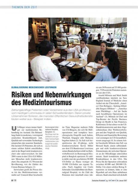 Globalisierung medizinischer Leistungen