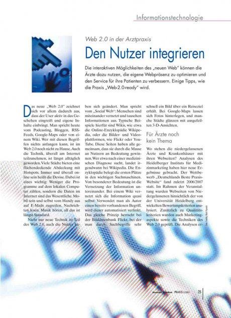 Web 2.0 in der Arztpraxis: Den Nutzer integrieren