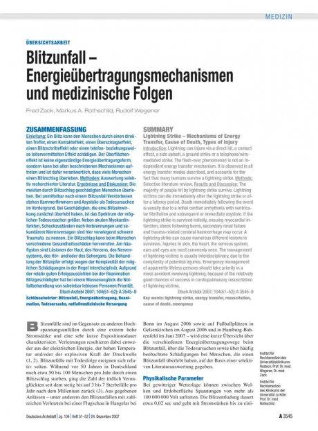 Blitzunfall – Energieübertragungsmechanismen und...