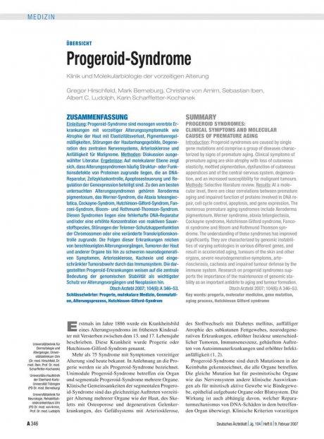 Progeroid-Syndrome