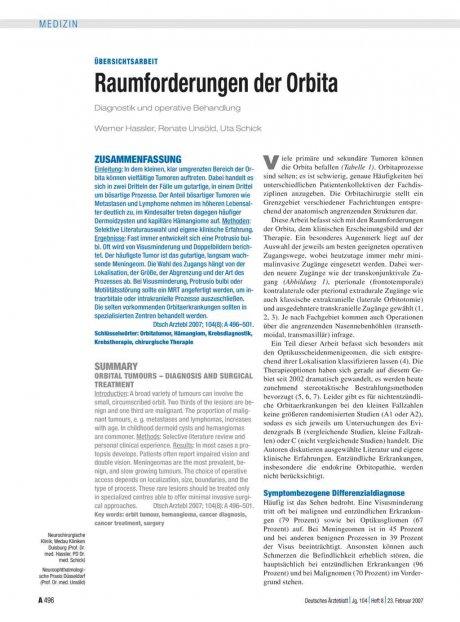 Raumforderungen der Orbita