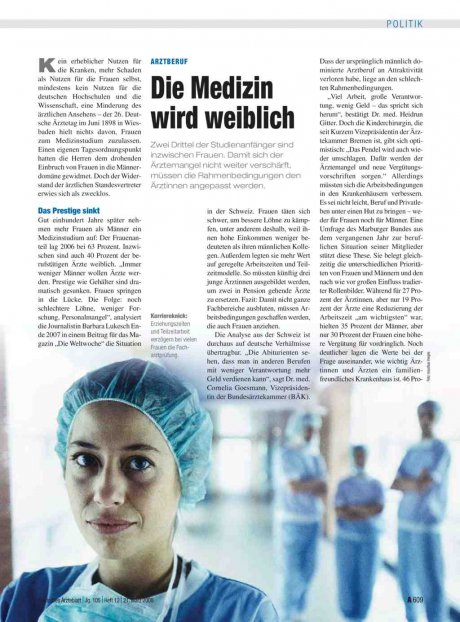 Arztberuf: Die Medizin wird weiblich