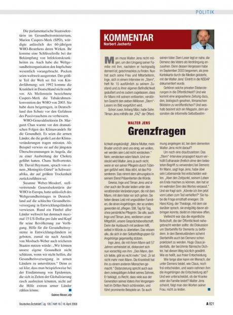 Kommentar - Walter Jens: Grenzfragen