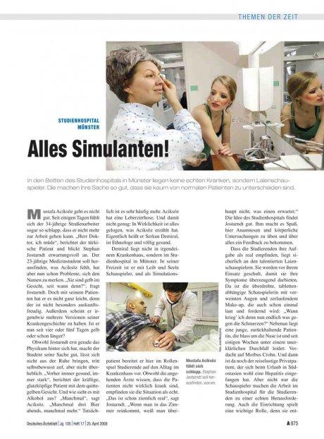 Studienhospital Münster: Alles Simulanten!