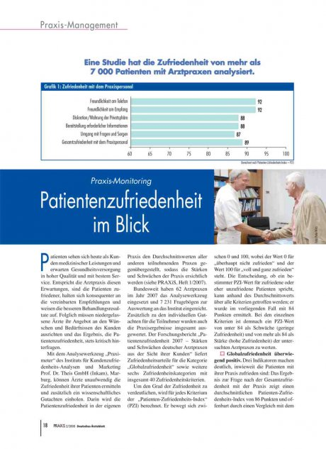Praxis-Monitoring: Patientenzufriedenheit im Blick