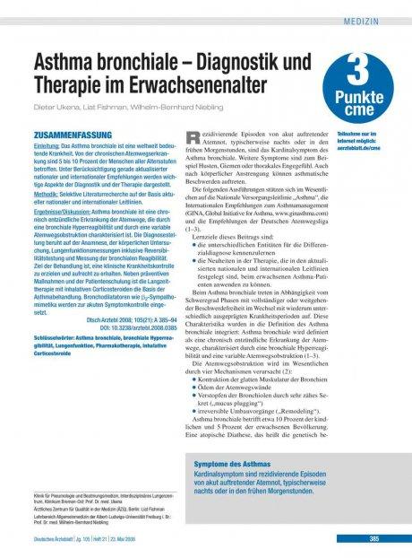 Asthma bronchiale – Diagnostik und Therapie im...
