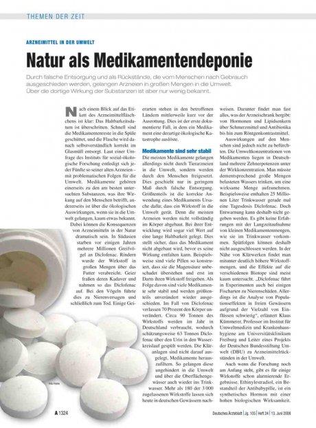 Arzneimittel in der Umwelt