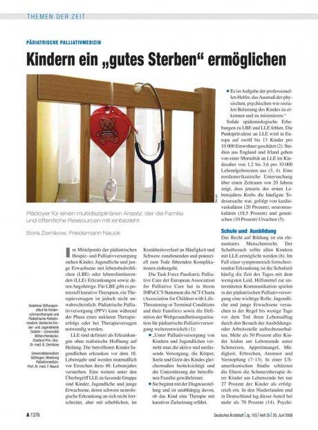 Pädiatrische Palliativmedizin