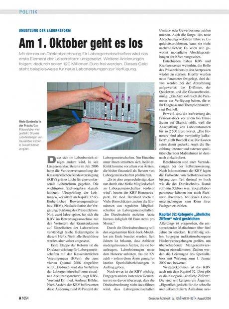 Umsetzung der Laborreform