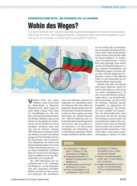 Gesundheitssysteme Mittel- und Osteuropas (Teil...