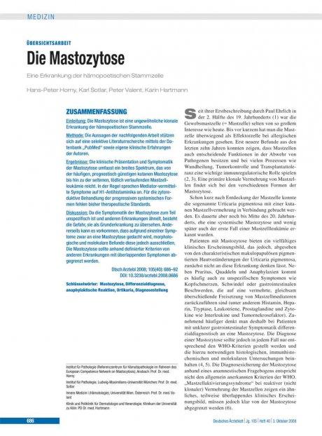 Die Mastozytose