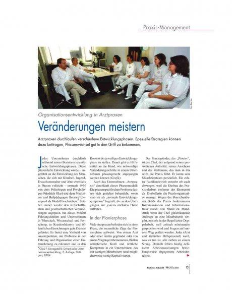 Organisationsentwicklung in Arztpraxen
