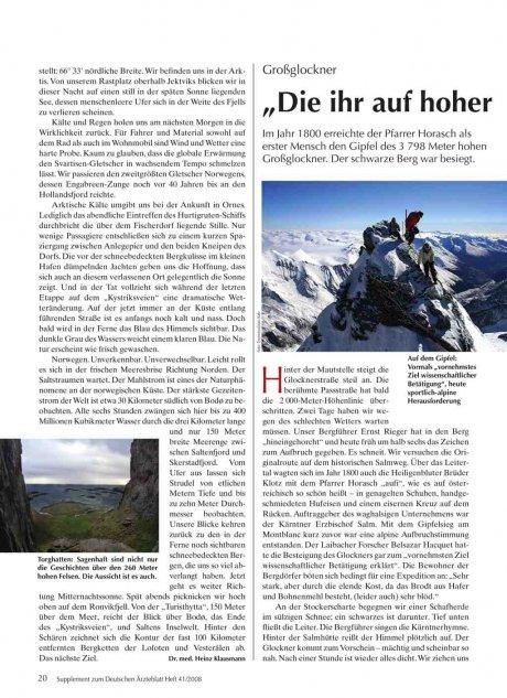 """Großglockner: """"Die ihr auf hoher Zinne steht..."""""""