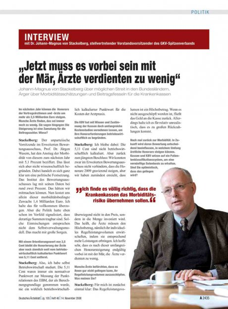 Interview mit Dr. Johann-Magnus von Stackelberg,...