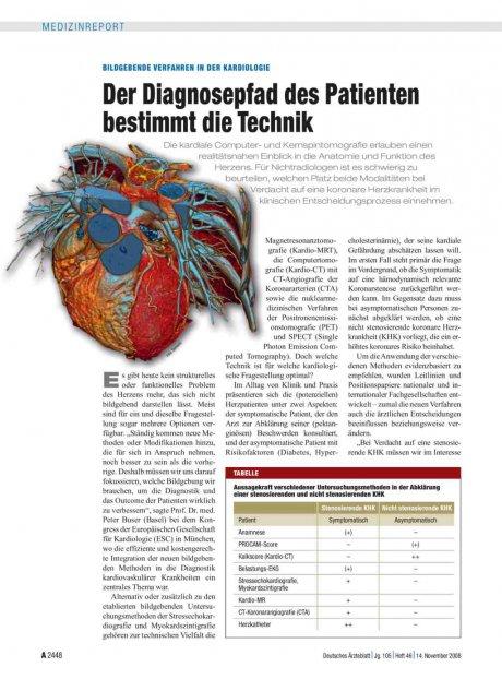 Bildgebende Verfahren in der Kardiologie