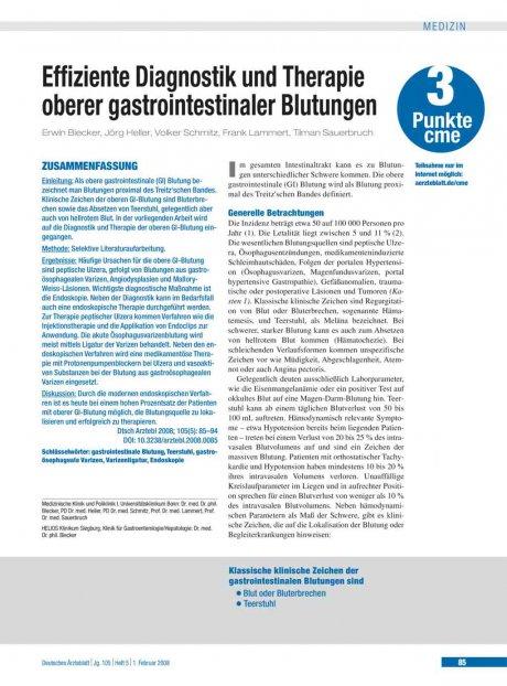 Effiziente Diagnostik und Therapie oberer...