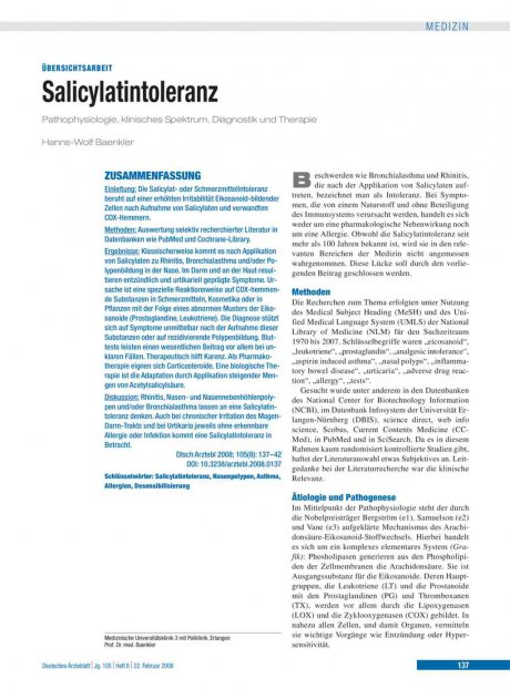Salicylatintoleranz