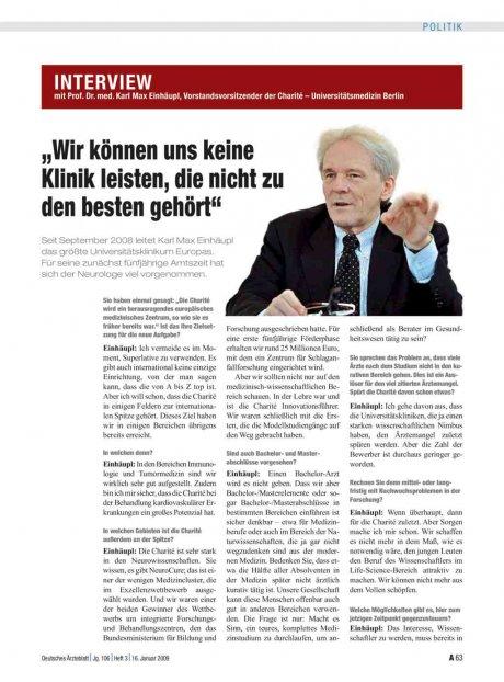 Interview mit Prof. Dr. med. Karl Max Einhäupl,...