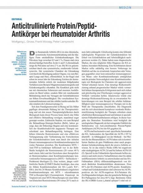 Anticitrullinierte Protein/Peptid-Antikörper bei...