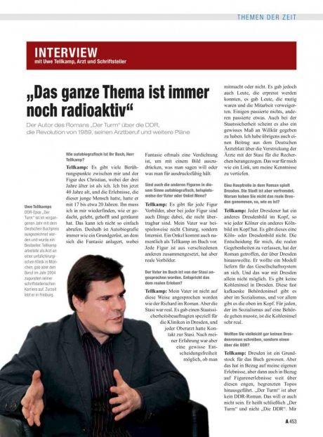 Interview mit Uwe Tellkamp, Arzt und...