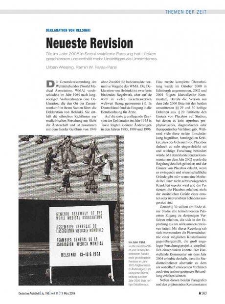Deklaration von Helsinki: Neueste Revision