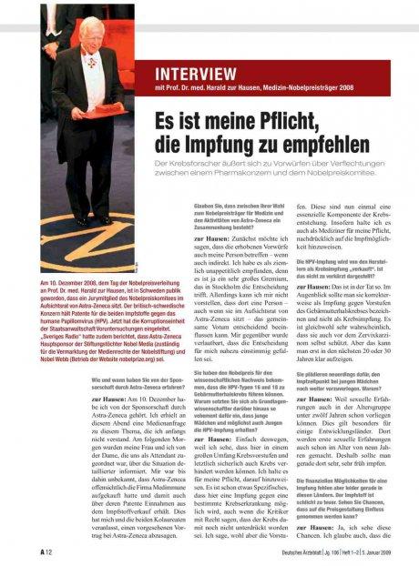Interview mit Prof. Dr. med. Harald zur Hausen,...
