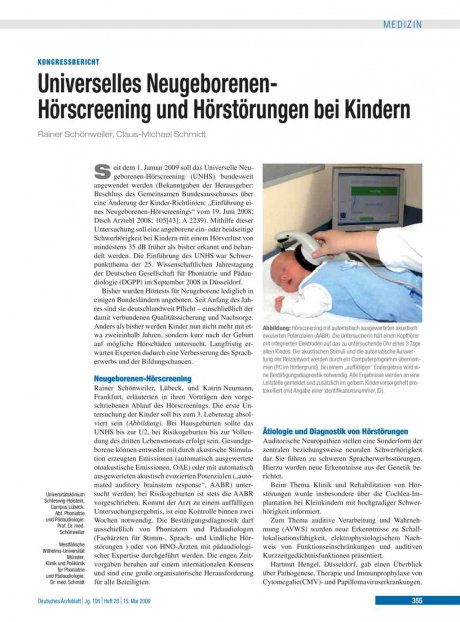 Universelles Neugeborenen-Hörscreening und...