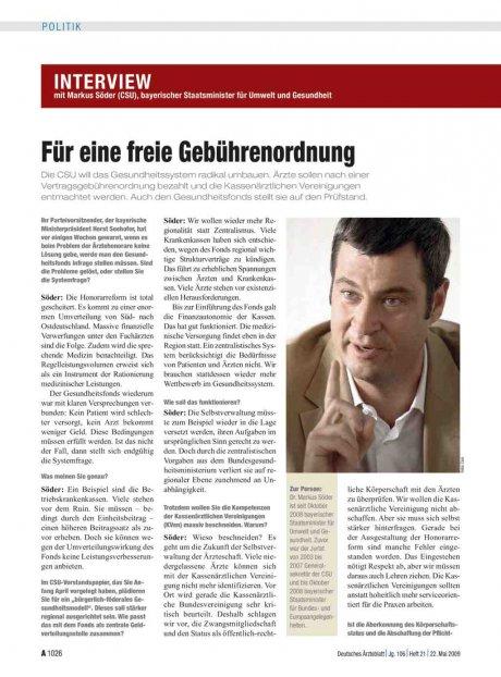 Interview mit Markus Söder (CSU), bayerischer...