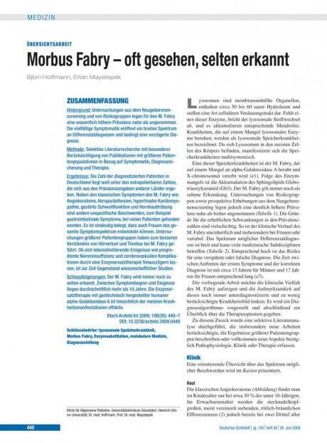 Morbus Fabry – oft gesehen, selten erkannt
