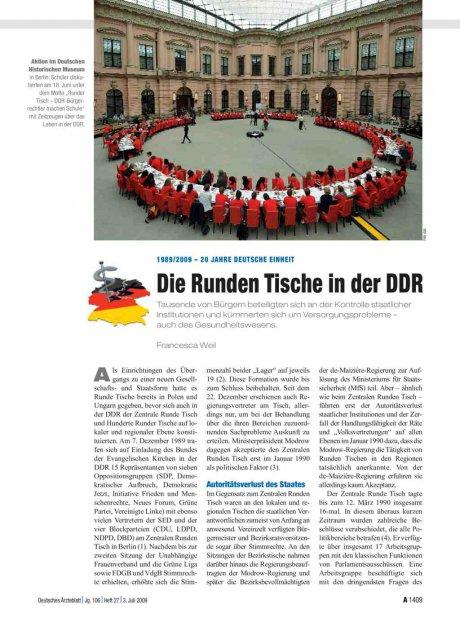1989/2009 – 20 Jahre deutsche Einheit