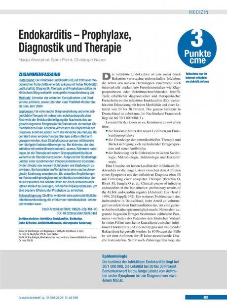 Endokarditis – Prophylaxe, Diagnostik und Therapie
