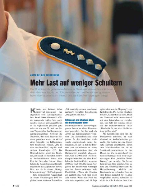 Ärzte bei der Bundeswehr