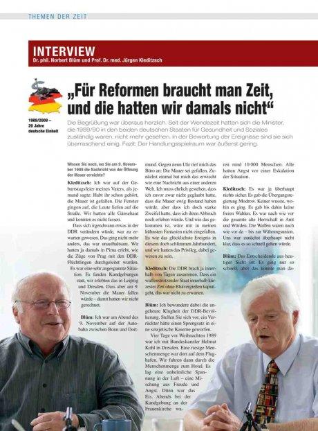 Interview mit Dr. phil. Norbert Blüm und Prof. Dr....