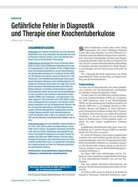 Gefährliche Fehler in Diagnostik und Therapie...