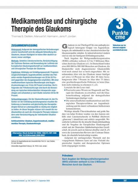 Medikamentöse und chirurgische Therapie des...