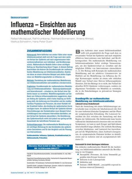 Influenza – Einsichten aus mathematischer...