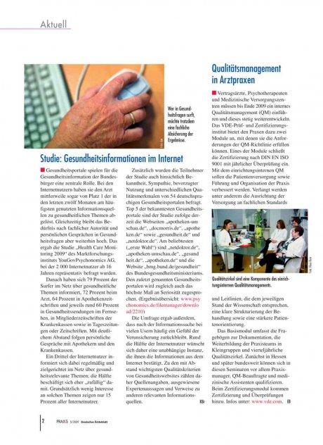 Studie: Gesundheitsinformationen im Internet