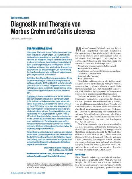 Diagnostik und Therapie von Morbus Crohn und...