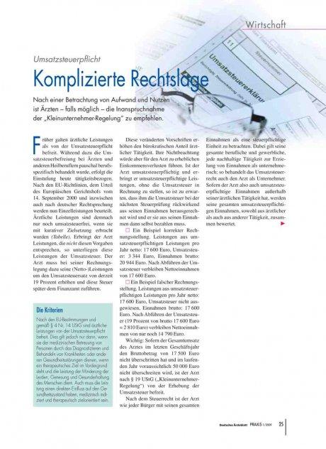 Umsatzsteuerpflicht: Komplizierte Rechtslage