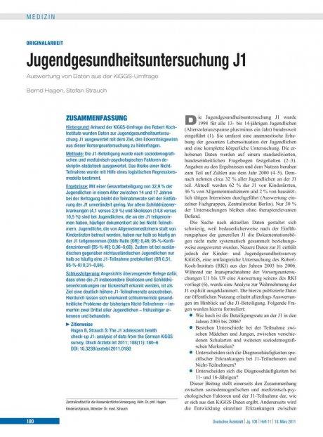 Jugendgesundheitsuntersuchung J1