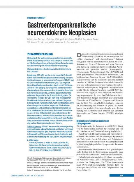 Gastroenteropankreatische neuroendokrine...