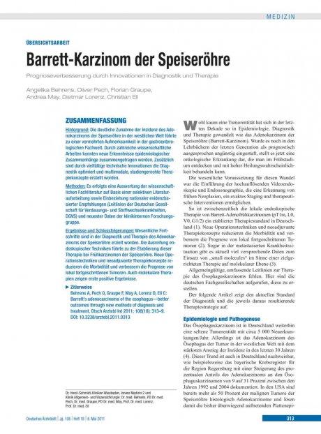 Barrett-Karzinom der Speiseröhre