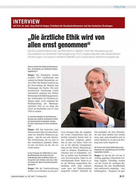 Interview mit Prof. Dr. med. Jörg-Dietrich Hoppe,...