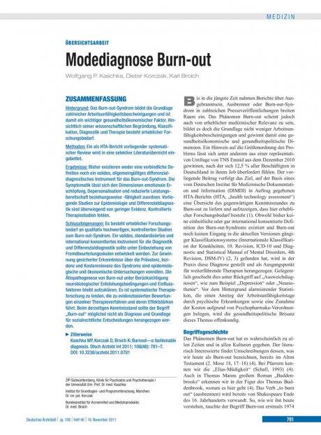 Modediagnose Burn-out