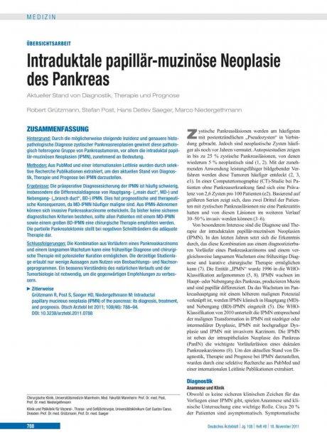 Intraduktale papillär-muzinöse Neoplasie des...