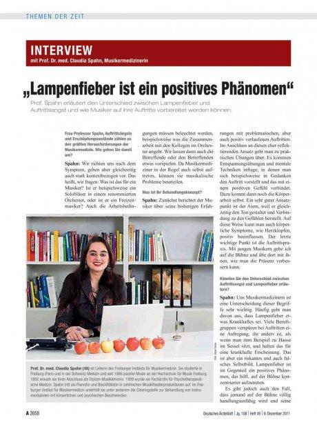 Interview mit Prof. Dr. med. Claudia Spahn,...