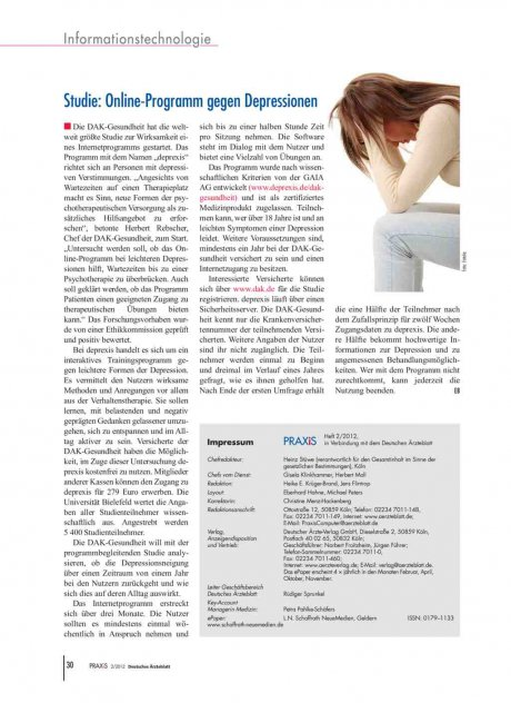Studie: Online-Programm gegen Depressionen