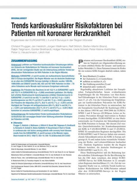 Trends kardiovaskulärer Risikofaktoren bei...