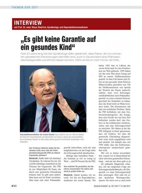 Interview mit Prof. Dr. med. Klaus Diedrich,...