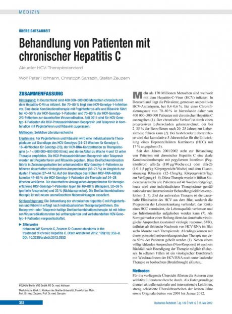 Behandlung von Patienten mit chronischer Hepatitis...